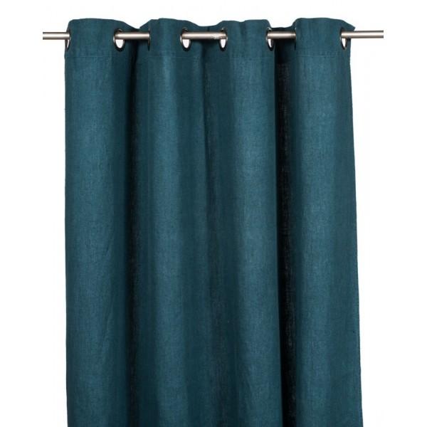 Rideau couleur bleu prusse
