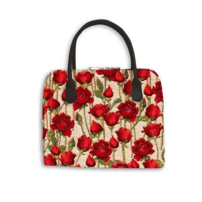 Sac à mains roses rouge