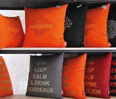 Coussins souvenir de Bordeaux