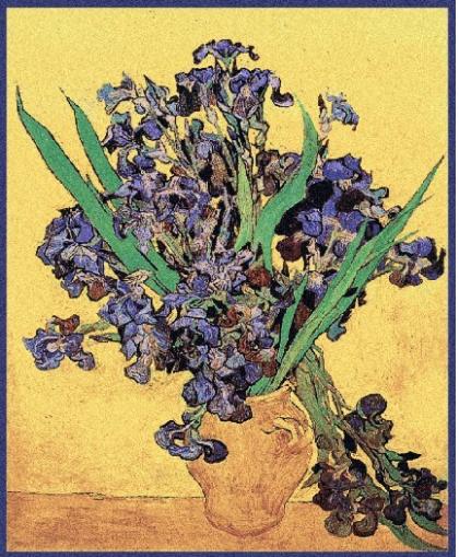 Tapisserie les iris jaunes de Van Gogh