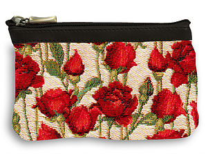 Trousse plate roses rouges