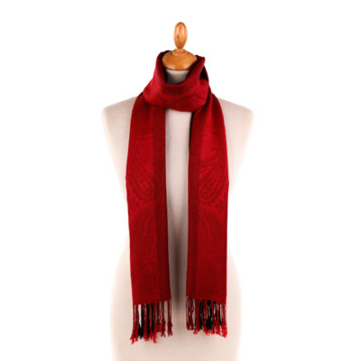 Pashmina Rouge Bordeaux