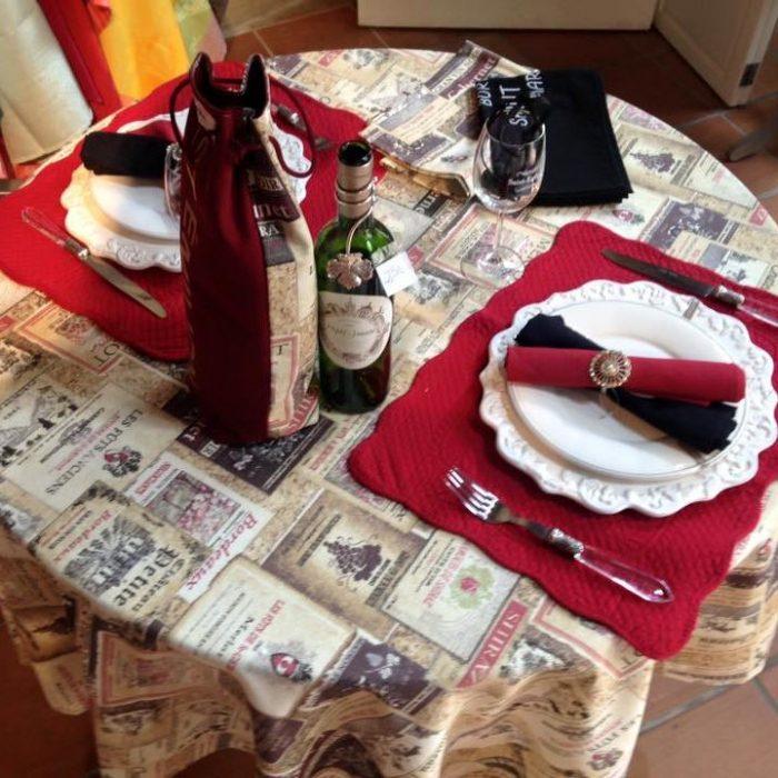 linge de table-autour du vin