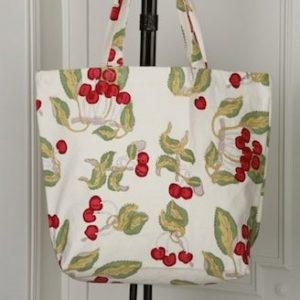 25.50 - cerise rouge vert sac / cherry red green bag
